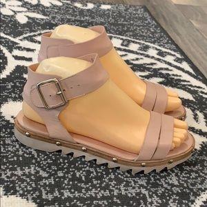 Authentic AGL leather sandals sz 6 Euro 36